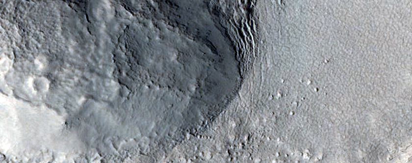 Sample Terrain North of Rudaux Crater
