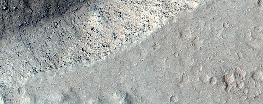 Slope Features in Olympus Mons Caldera