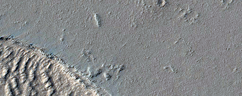 Fracture on Plains Southeast of Ascraeus Mons and North of Noctis Fossae