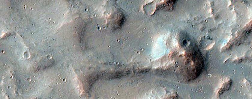 Volcanic Field on Floor of Coprates Chasma