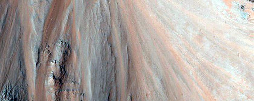 Monitor Slopes in Eos Chasma