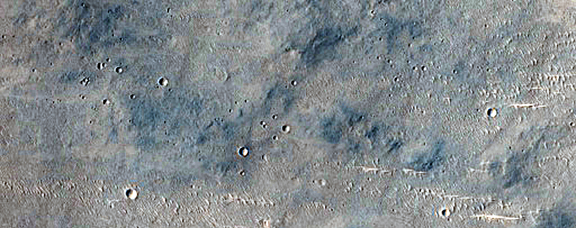 Curved Valley West of Gale Crater