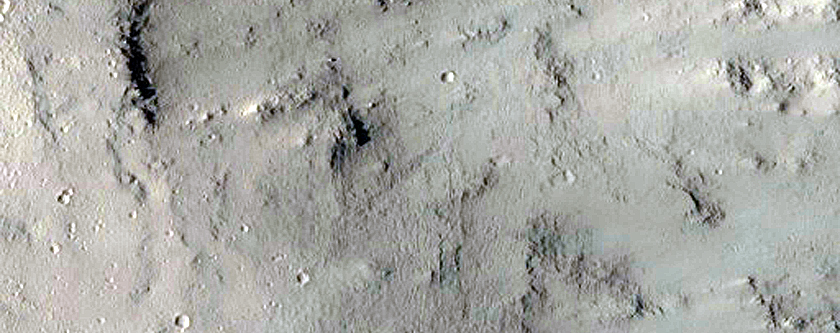 Western Caldera Rim of Albor Tholus