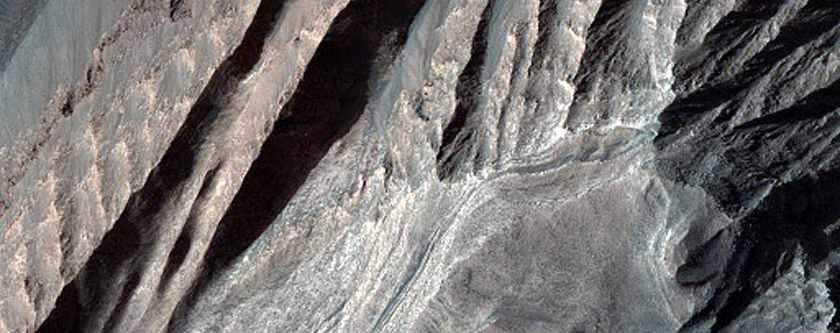 Layered Bedrock in Coprates Chasma