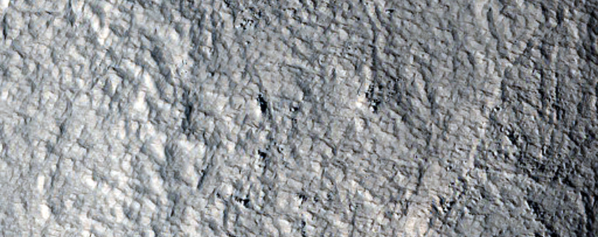 Old Glacier with Possible Marginal Ridge South of Moreux Crater
