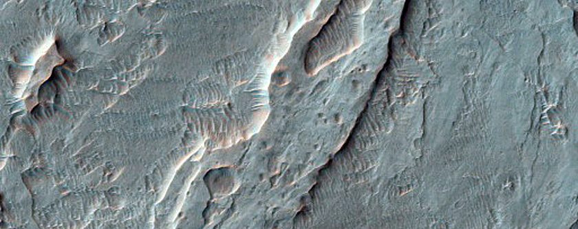 Distal Fan in Crater South of Ostrov Crater