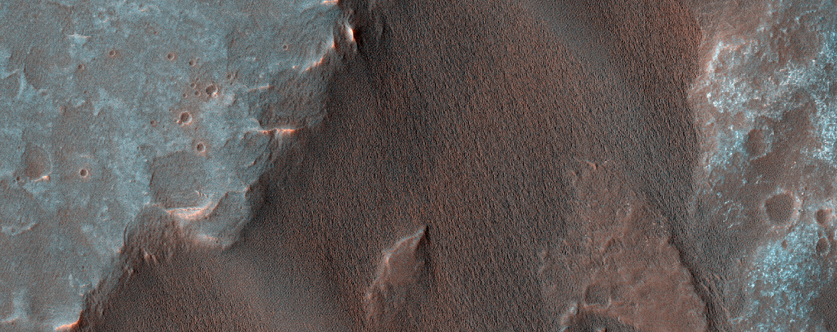 Fan Material in South Gale Crater