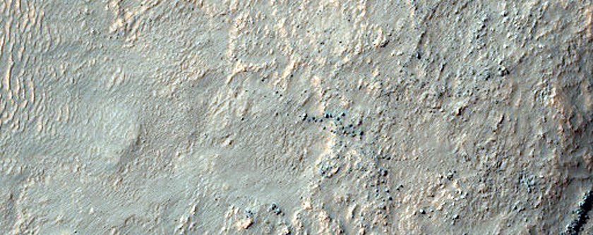 Terraces of South Mid-Latitude Crater