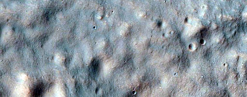 Crater Floor Bench in Hellas Region Rim Crater