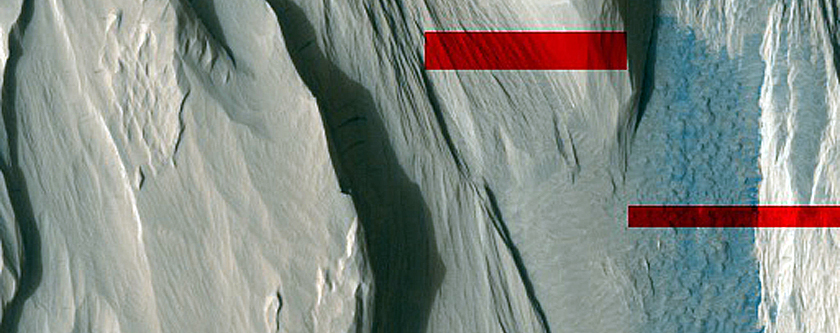 Exposed Layers in Medusae Fossae Formation