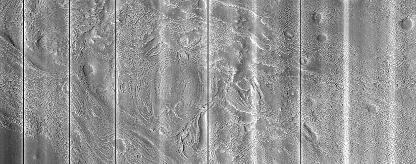 Crater with Potential Fluvial Activity in the Northern Mid-Latitude