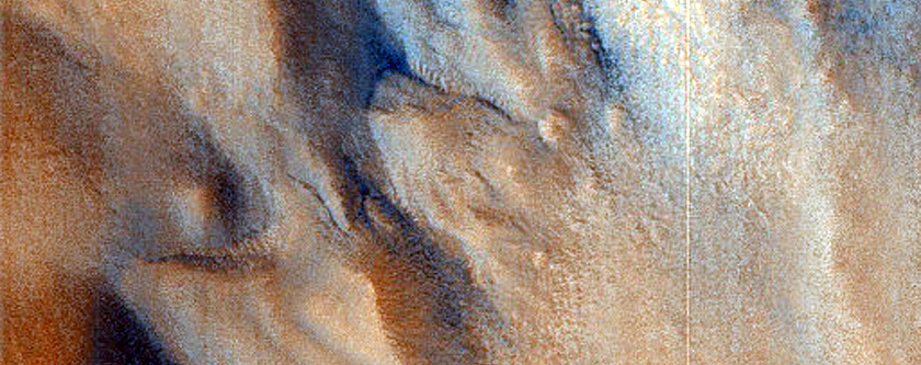 Layered Features in Semeykin Crater