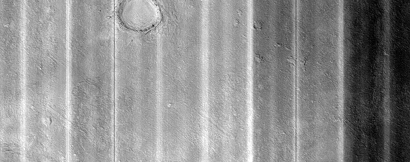 Mesa in Crater in Northern Mid-Latitudes