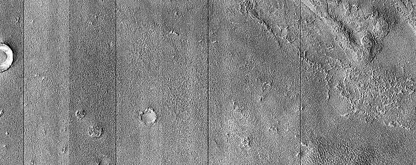 Craters Ridge and Buttes in Northwest Elysium Planitia