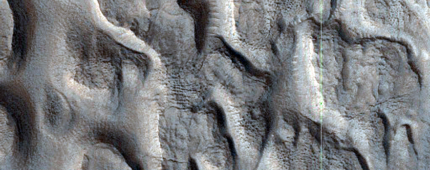 Ribbed Terrain in Trough of Coloe Fossae