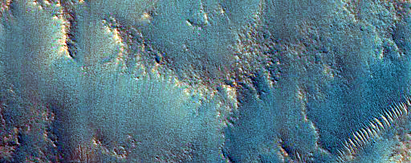 Mound in Valley System in Idaeus Fossae