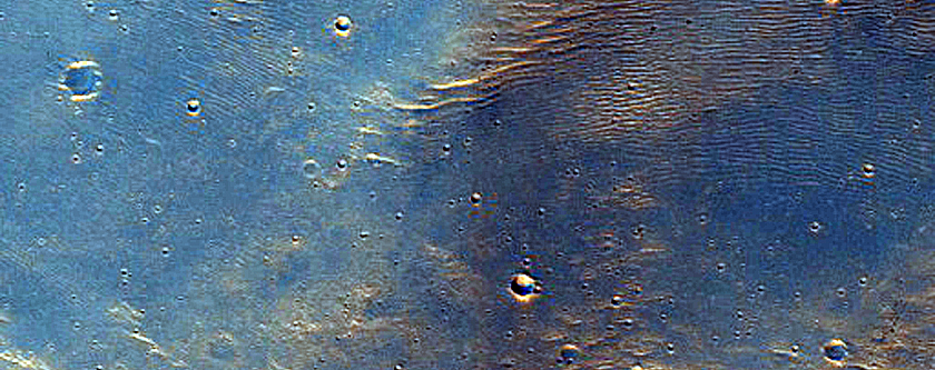 Landslide in Southern Mid-Latitude Crater