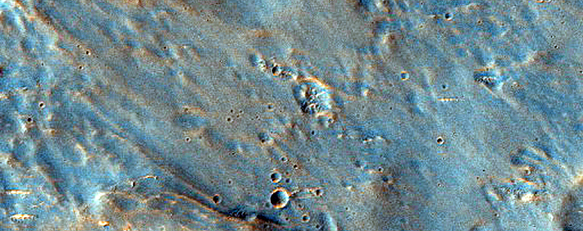 Possible Carbonate or High Temperature Hydrous Mineral-Rich Terrain