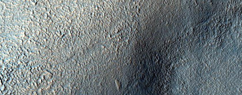 Valley Entering Crater in Terra Sirenum