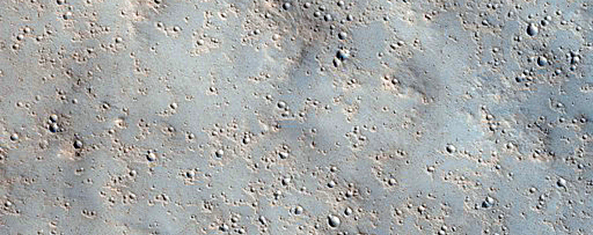 Valley with Depression on Floor South of Gale Crater