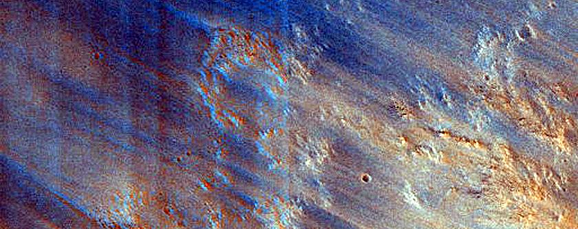 Eastern Ridge of Huygens Crater