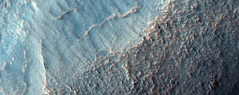 Valleys on Flank of Nereidum Montes