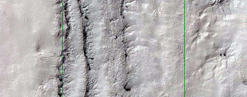 Layers in Mesa Wall in South Polar Region