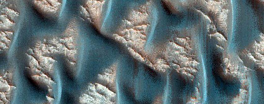 Dunes on Floor of Infilled Crater