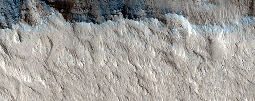 Fault Exposed in Echus Chasma Wall