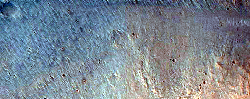 Monitor Slopes of Well-Preserved Impact Crater