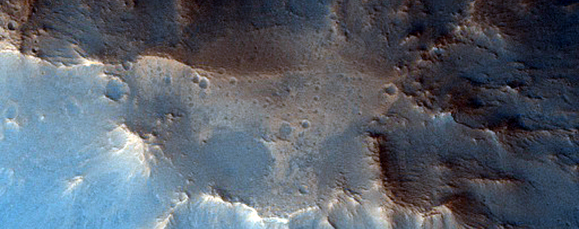 Clay and Possibly Serpentine-Rich Crater Central Mound
