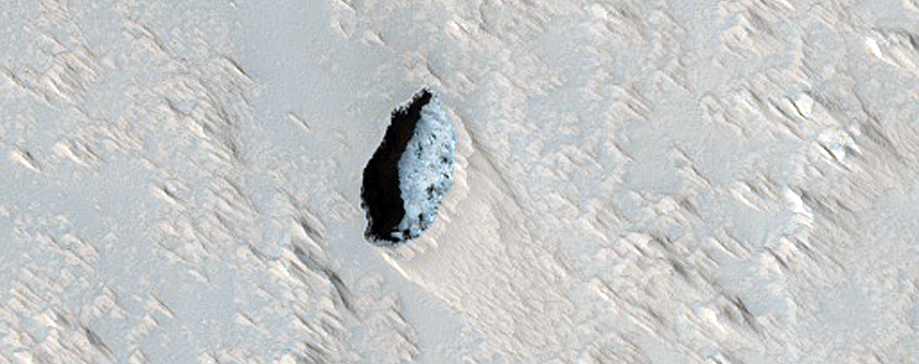 Pit on Arsia Mons
