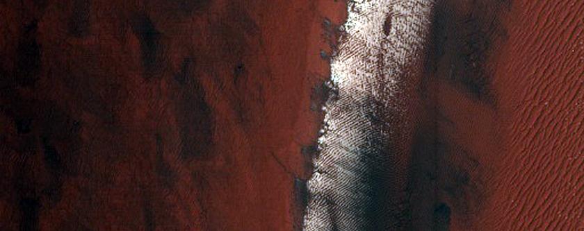 Layering in Crater Interior Deposit