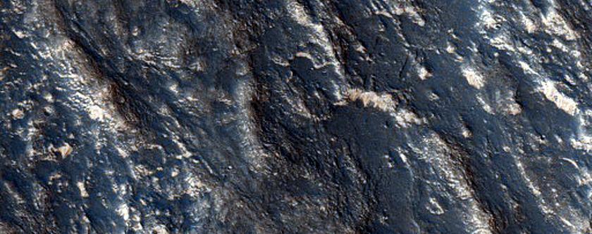 Close Ridges on Crater Floor in Claritas Fossae
