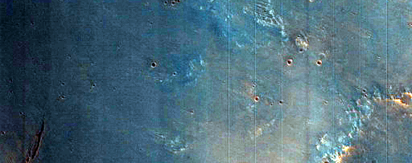 Wall of 19-Kilometer Diameter Crater in Noachis Terra