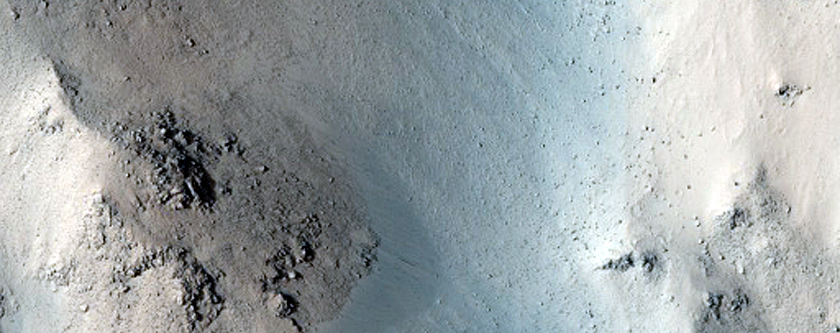 Monitor Slopes of Central Peaks in Horowitz Crater