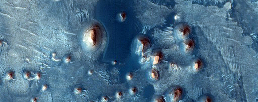 Arabia Terra with Stair-Stepped Hills and Dark Dunes