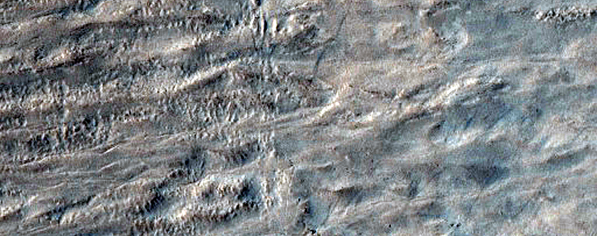 Gullies in Crater Southeast of Hellas Planitia