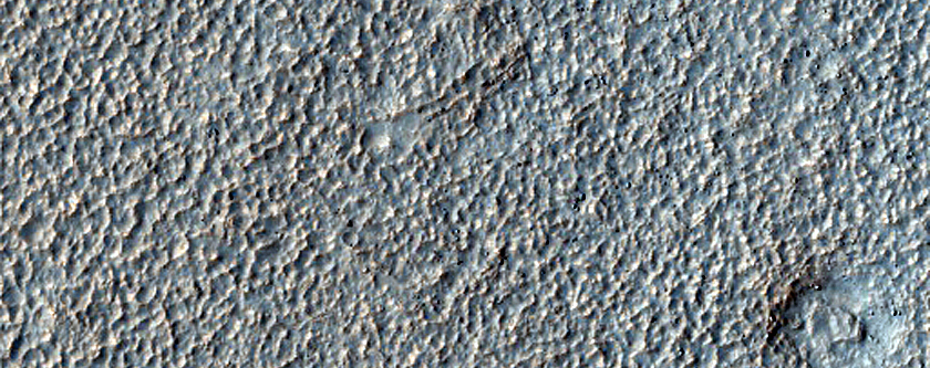 Ice Rich Lobate Deposit Flowing from Crater