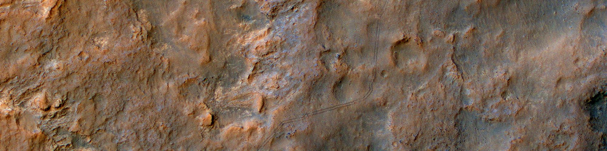 Automatarii vestigia vehiculi Curiosity appellati