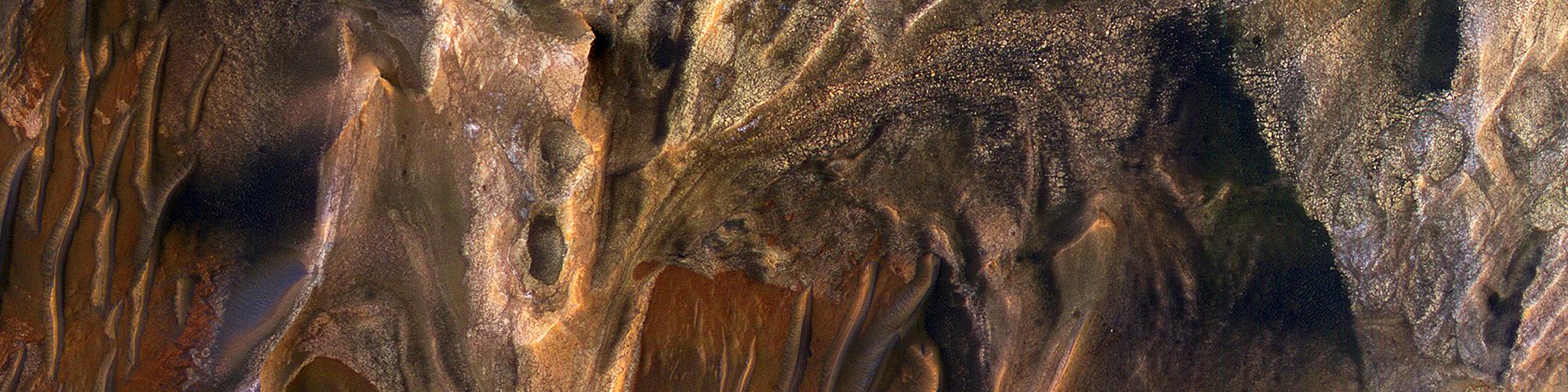 Depositae diversae in Melas Chasma