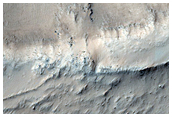 Flow on Crater Wall West of Echus Chasma