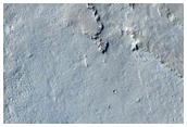 Το νότιο όριο του εκτοξευμένου υλικού από τον κρατήρα Zunil