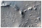 شبكة من الأعراف شمال فوهة انتونيادي (Antoniadi Crater)