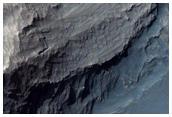 Pentes dans le cratère Gale