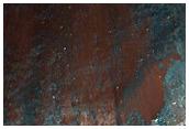 Angular Light-Toned Blocks on Slope in Ganges Chasma