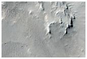 Hugsanlegt túff (móberg) nærri Apollinaris Mons
