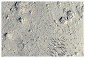 Semi-Sinuous Ridge and Stratified Material in Arabia Terra