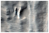 Boundary of Glacial-Like Flow on Arsia Mons