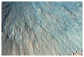 Bone klonservita alfrapa kratero en Acidalia Planitia